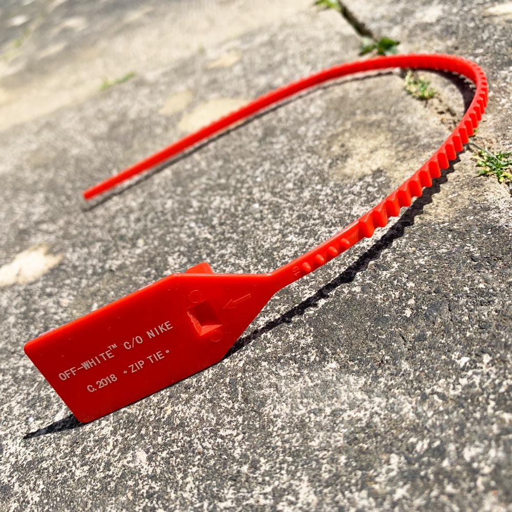 Off-White Zip Tie Red Shoelaces
