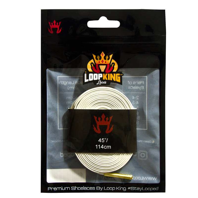 Loop King Laces Packaging for White Shoe Laces