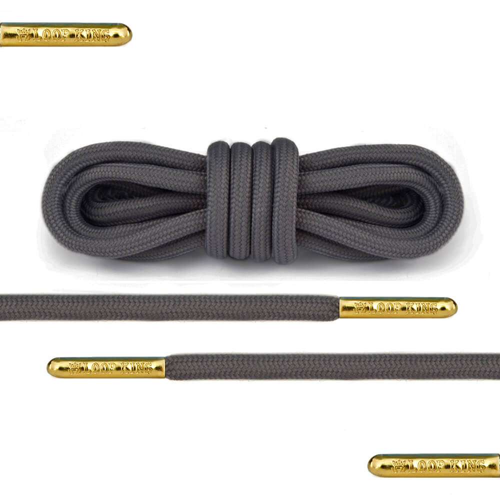 dark grey rope round shoelaces