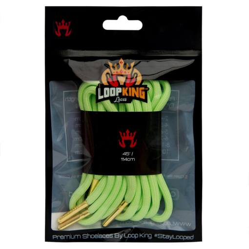 lime green rope shoelaces packaging