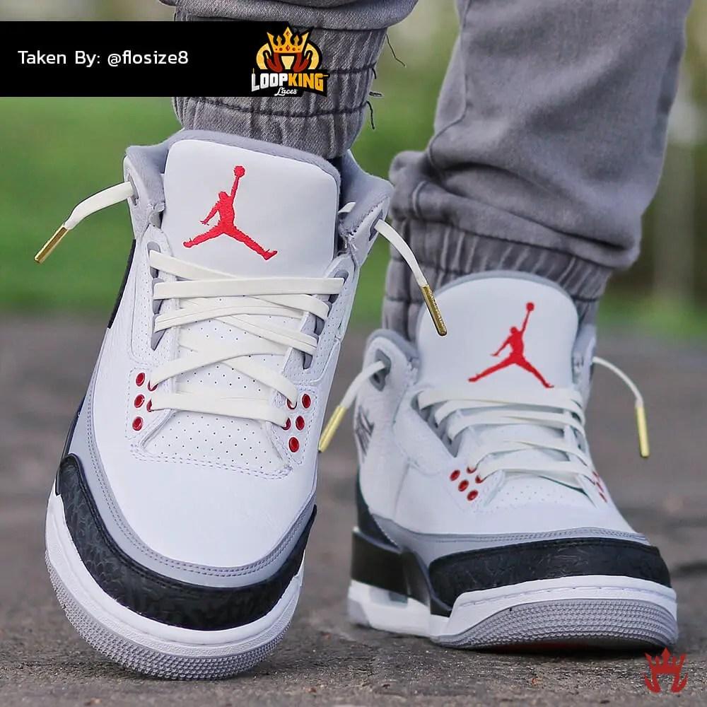 white leather laces on jordan 3 2