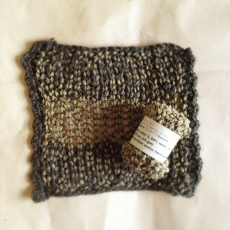 Here we mixed Habu Lily Boucle with Blue Sky Alpaca Sport