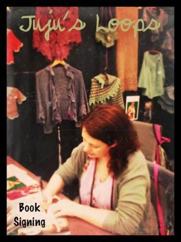 Juju at book signing
