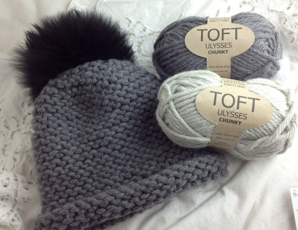 Toft Wool Chunky in Light Grey and Dark Grey - Plus free hat pattern!