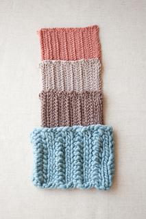 Chevron Cable Swatches