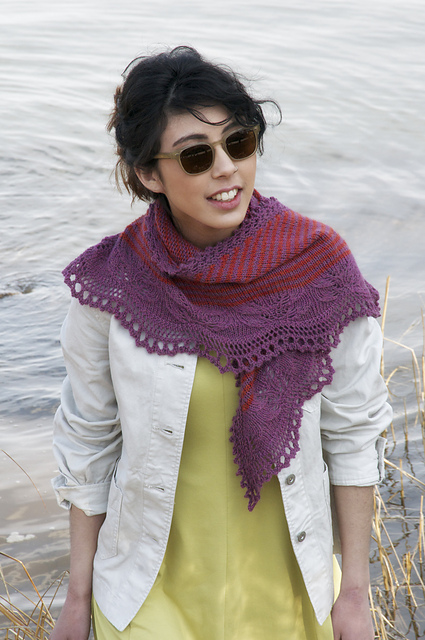 Andrea's Shawl by Kirsten Kapur from Shawl Book One. Photography Gale Zuker