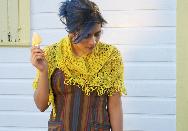 Thalia by Kirsten Kapur from Shawl Book One. Photography Gale Zuker