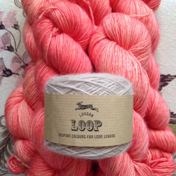 Madelinetosh Merino Light 'London Cosmopolitan' and Orkney Angora in 'Ghost'