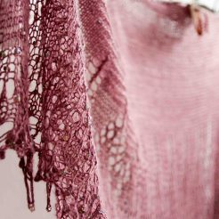 Out of Darkness shawl in DyeForYarn Tussah Silk Lace