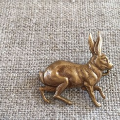 Bronze Hare Brooch