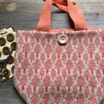 Woolly Originals project bag flame at Loop London