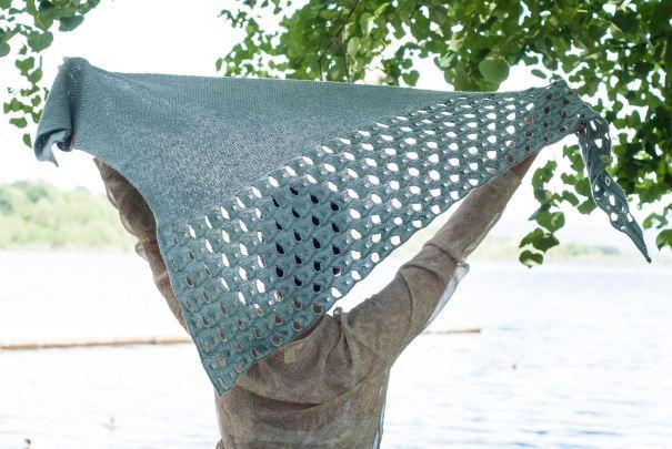 Melanie Berg Open Waters shawl at Loop London