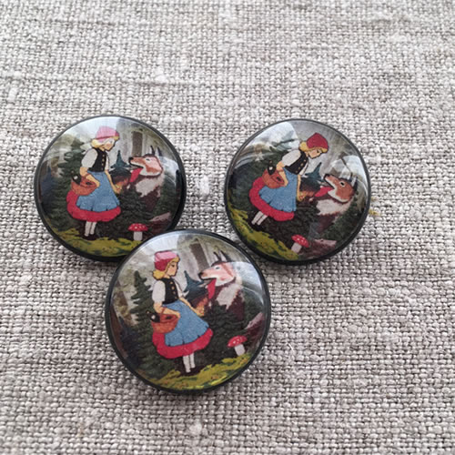 Little Red Riding Hood and Wolf buttons at Loop London