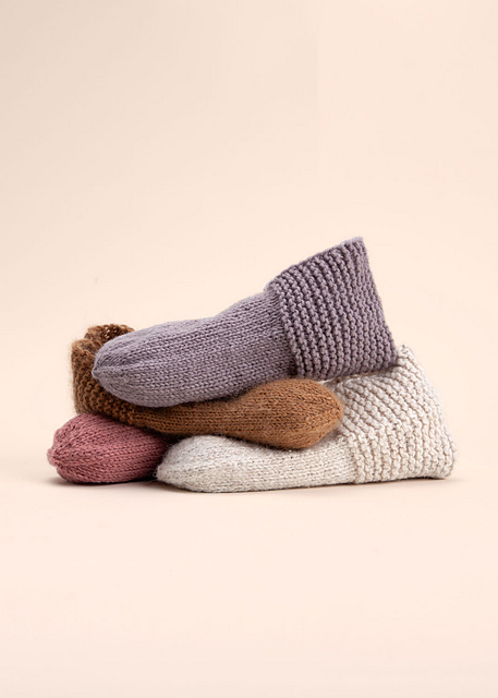 simple house slippers by simone a on Ravelry