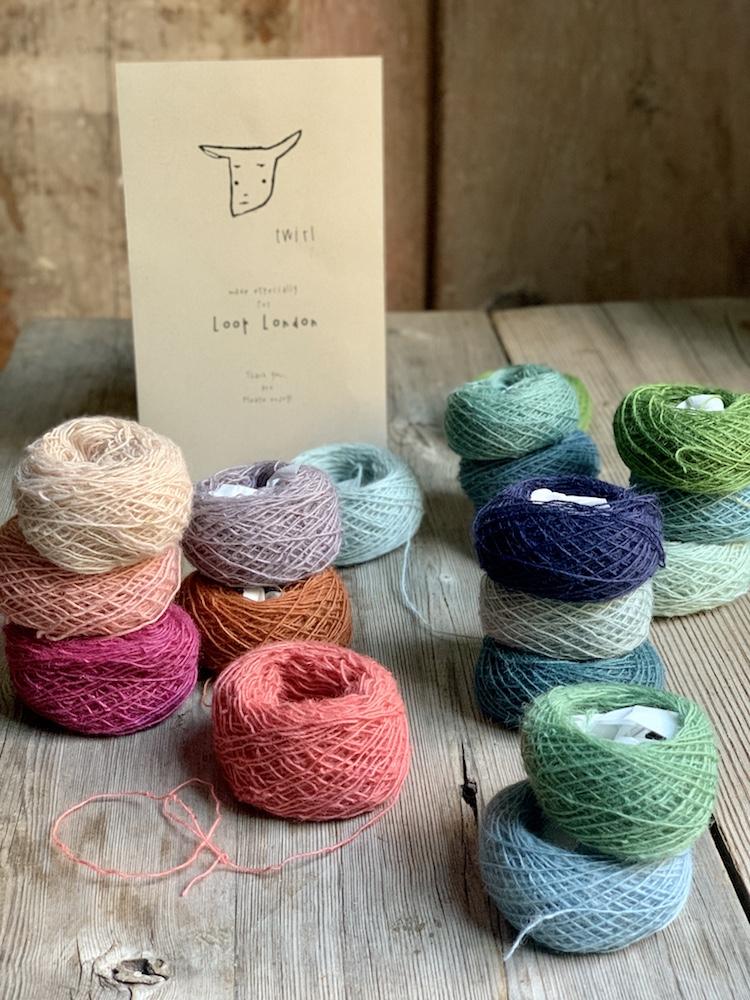 Twirl Yarn : Beautiful baby cake sets of naturally dyed yarn