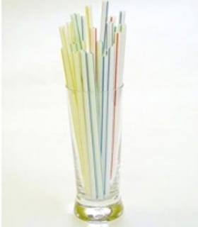 "Straws 8"" Striped Flexi - Box 250"