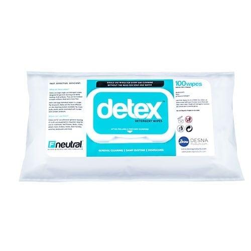 Desna Detex Neutral Detergent wipes 100's