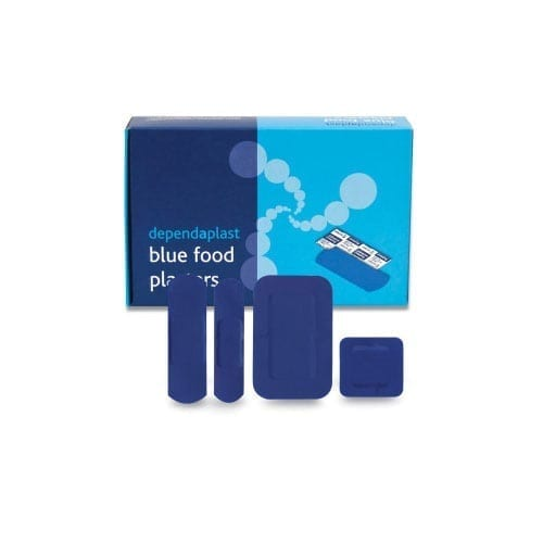 Assorted Dependaplast Blue Plasters for First Aid
