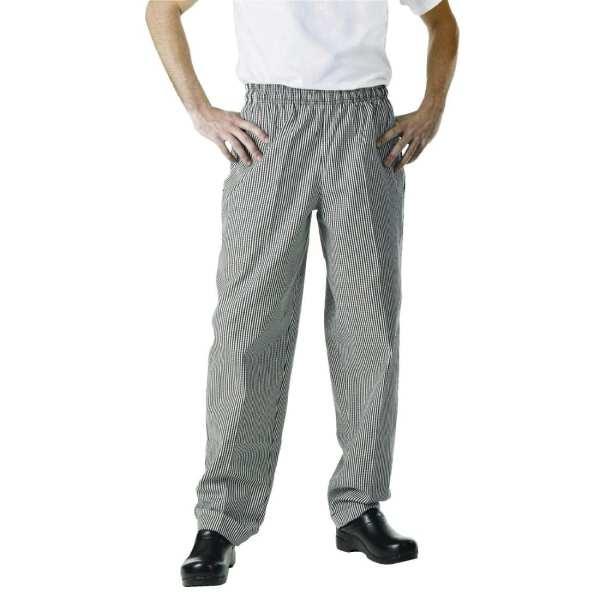 Chef Works Unisex Easyfit Pants Small Black Check Polycotton - Size XL-0