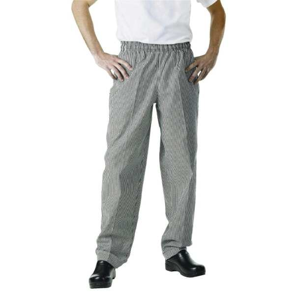 Chef Works Unisex Easyfit Pants Small Black Check Polycotton - Size XXL-0