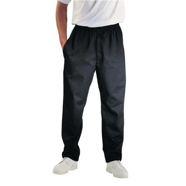 Chef Works Unisex Easyfit Pants Black (Teflon Coated) Polycotton - Size XXL-0