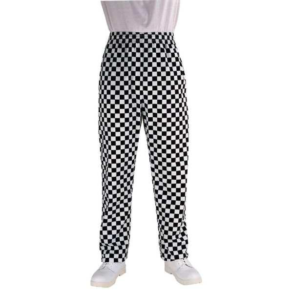 Chef Works Unisex Easyfit Pants Big Black Check Polycotton - Size XS-0