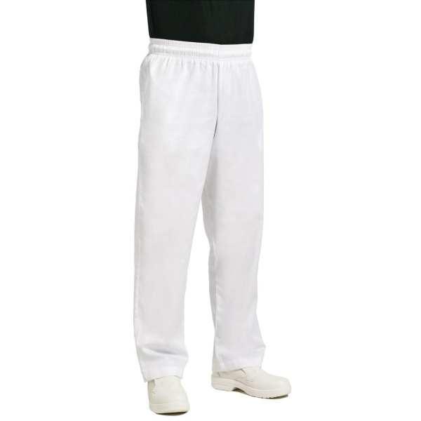 Chef Works Unisex Easyfit Pants White Polycotton - Size XL-0