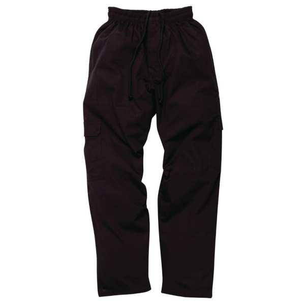 Chef Works J54 Cargo Pant Black (CPBL) - Size XS (B2B)-0