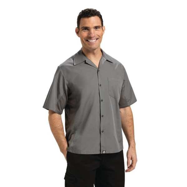 Chef Works Cool Vent Chef Shirt Polycotton Grey - Size M (B2B)-0
