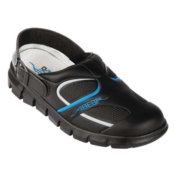 Abeba Black Microfibre Slip On - Size 42-0