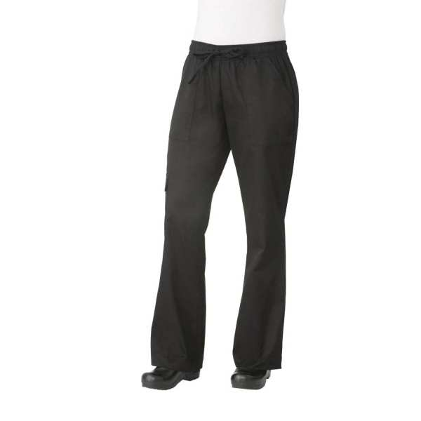 Chef Works Womens Cargo Pants Black (CPWOBLK) - Size L (B2B)-0