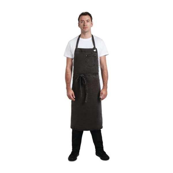 Chef Works Dorset Antique Wide Bib Apron Pewter (B2B)-0