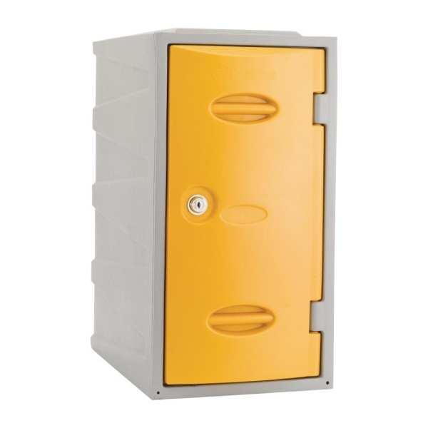 Extreme Modular Plastic Locker - 600mm high Yellow Camlock (Direct)-0