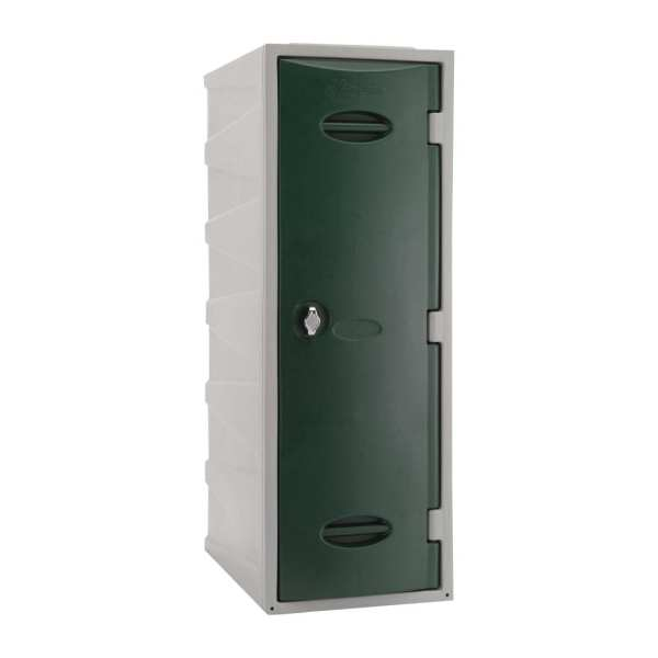 Extreme Modular Plastic Locker - 900mm high Green Hasp & Staple Lock (Direct)-0