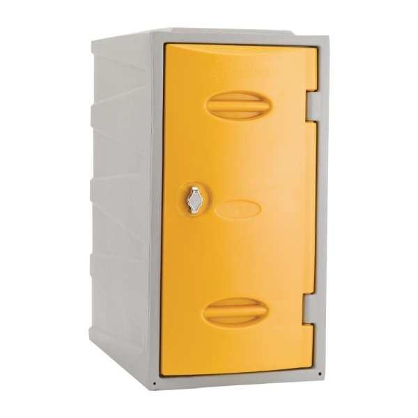 Extreme Modular Plastic Locker - 600mm high Yellow Hasp & Staple Lock (Direct)-0