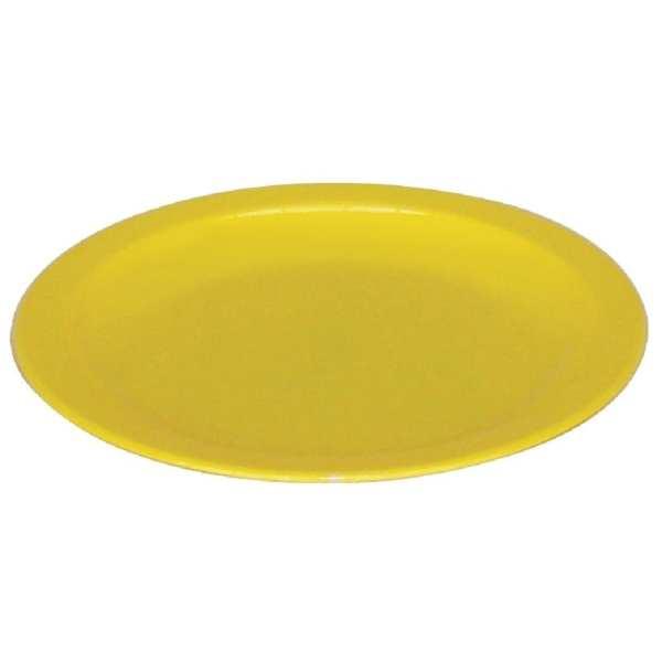 """Kristallon Polycarbonate Plate Yellow - 230mm 9"""" (Box 12)-0"""