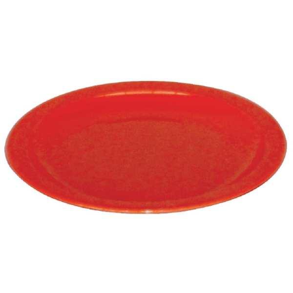 "Kristallon Polycarbonate Plate Red - 230mm 9"" (Box 12)-0"