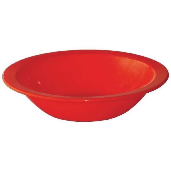 """Kristallon Polycarbonate Bowl Red - 400ml 14oz 6 3/4"""" (Box 12)-0"""