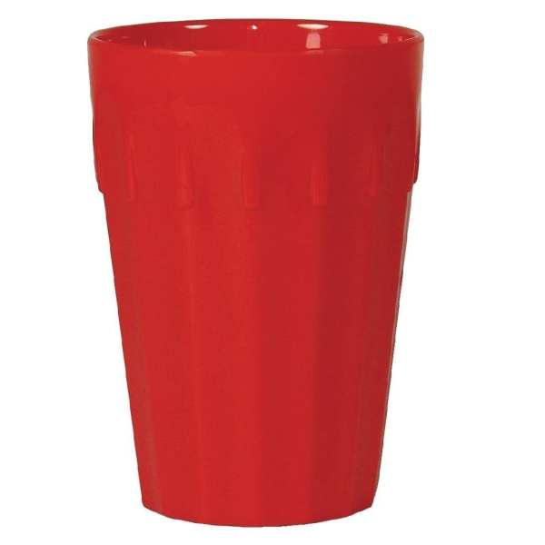 Kristallon Polycarbonate Tumbler Red - 260ml 9oz (Box 12)-0