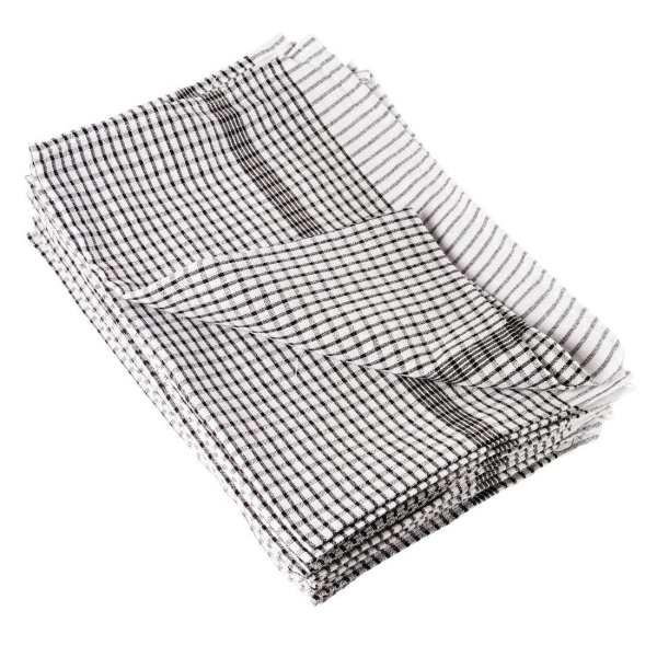 Wonderdry Tea Towel Black - 762x508mm (Pack 10)-0