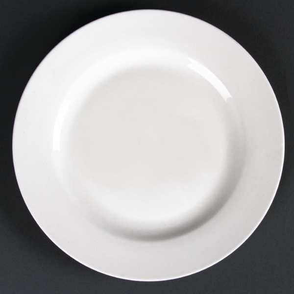 Lumina Fine China Wide Rimmed Round Plate - 200mm 7 3/4'' (Box 6)-0