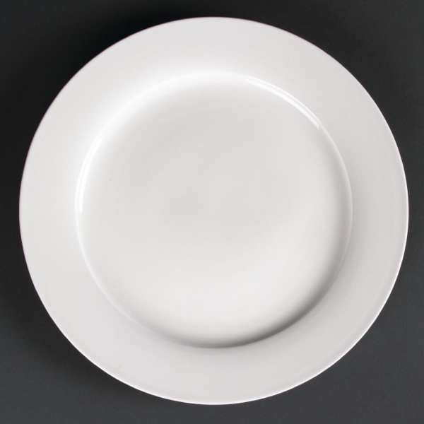 Lumina Fine China Wide Rimmed Round Plate - 305mm 12'' (Box 2)-0