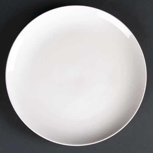 Lumina Fine China Coupe Plate Round - 260mm 10 1/4'' (Box 4)-0