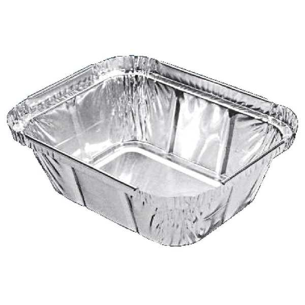 Rectangular Foil Container - 260ml 126x100mm (Pack 1000)-0