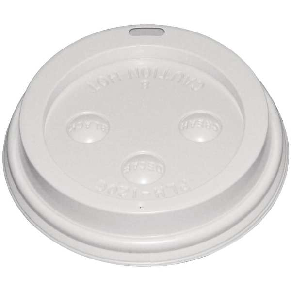 Fiesta Lid for Hot Cups White - 8oz (Box 1000)-0