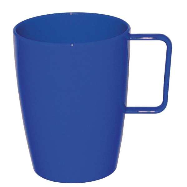 Kristallon Polycarbonate Handled Beaker Blue - 284ml 10oz (Box 12)-0