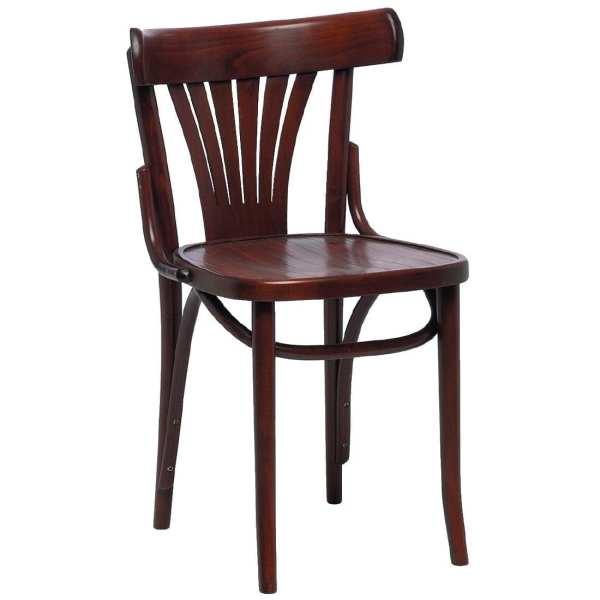 Bolero Bentwood Fan Back Sidechair (Walnut) (Pack 2) (Direct)-0