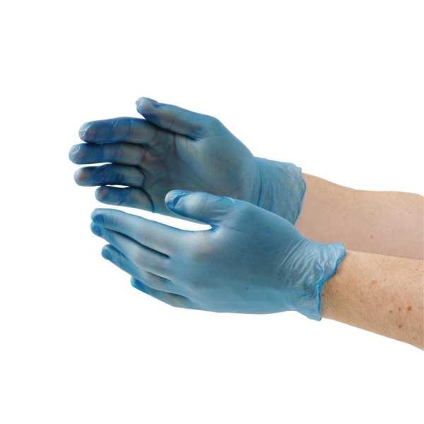 Vinyl Gloves - Powder Free Blue - Medium - Box 100