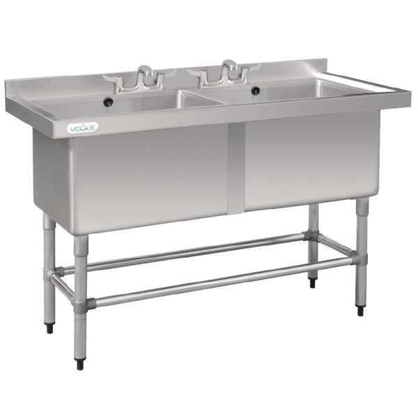 Vogue Double Deep Pot Sink-0