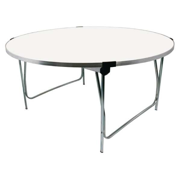 Gopak 1520mm dia Round Table (White) - 760mm Buffet Height (Direct)-0